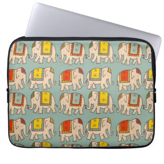 Good luck circus elephants cute elephant pattern laptop sleeve
