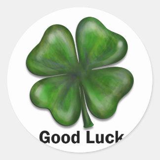 Good Luck Clover Classic Round Sticker