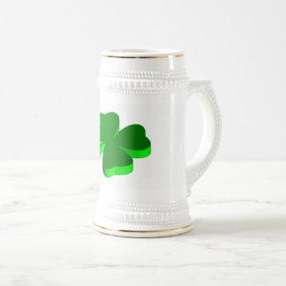 Good Luck Clover Green Funny Elegant Stein