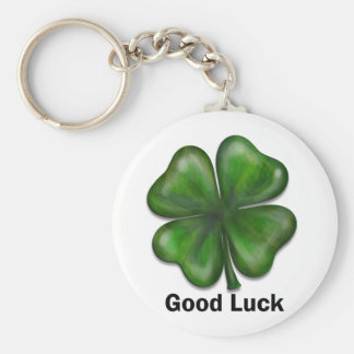 Good Luck Clover Key Ring