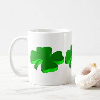 Good Luck Clover Pattern Green Funny Elegant Coffee Mug