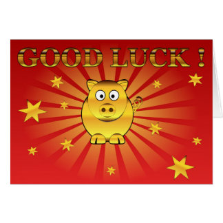 Good luck colorful illustration greeting card