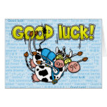 good luck - cows skydive tandem greeting card