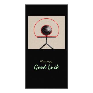 Good Luck Customized Photo Card