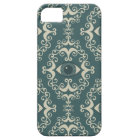 Good luck damask evil eye teal hipster pattern iPhone 5 case