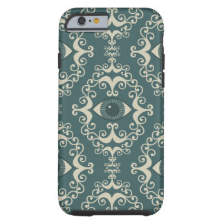 Good luck damask evil eye teal hipster pattern tough iPhone 6 case