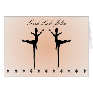Good Luck Dancer Card