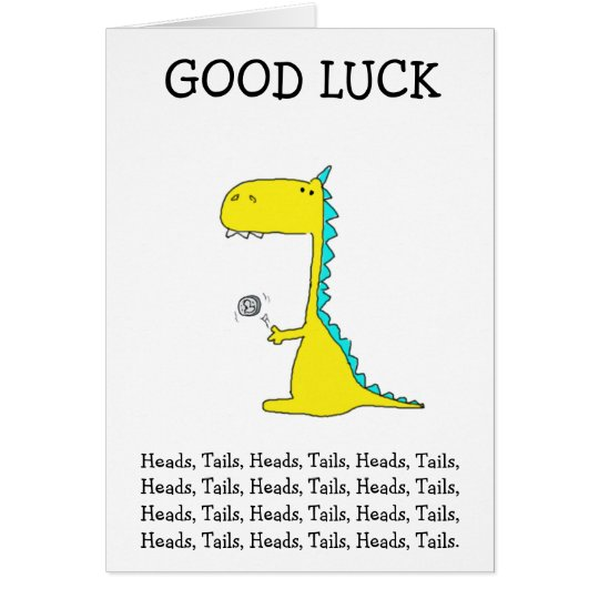 good luck dino card