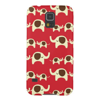 Good luck elephants cherry red cute nature pattern galaxy s5 cases