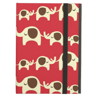 Good luck elephants cherry red cute nature pattern iPad air case