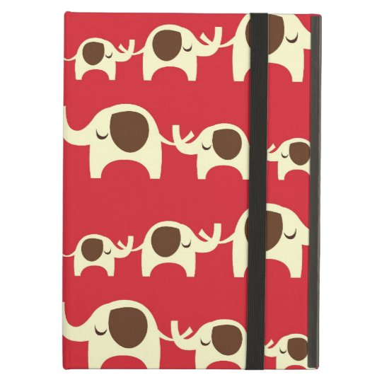 Good luck elephants cherry red cute nature pattern