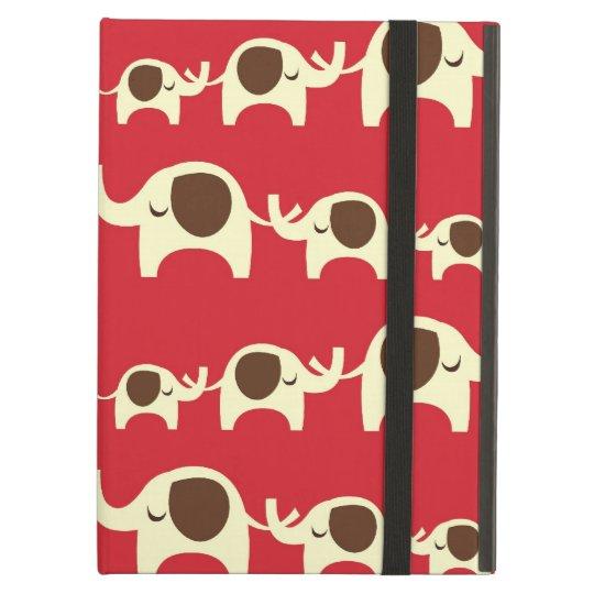 Good luck elephants cherry red cute nature pattern