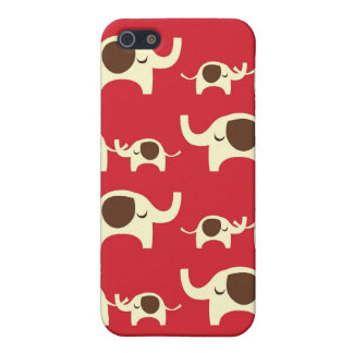 Good luck elephants cherry red cute nature pattern iPhone 5/5S cases