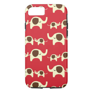 Good luck elephants cherry red cute nature pattern iPhone 7 case