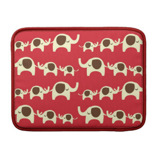 Good luck elephants cherry red cute nature pattern sleeve for MacBook air