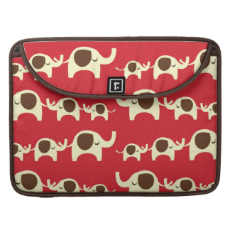 Good luck elephants cherry red cute nature pattern sleeve for MacBook pro