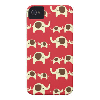 Good luck elephants cherry red iPhone 4S case skin