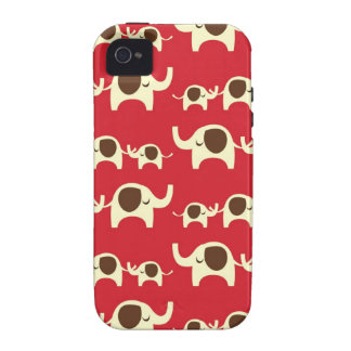 Good luck elephants cherry red iPhone 4S case skin Case-Mate iPhone 4 Covers