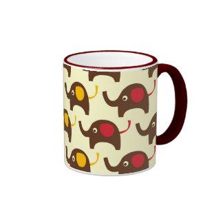 Good luck elephants kawaii cute nature pattern mugs