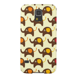 Good luck elephants kawaii cute nature pattern tan galaxy s5 cover