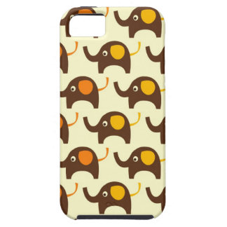 Good luck elephants kawaii cute nature pattern tan iPhone 5 covers