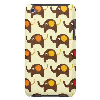 Good luck elephants kawaii cute nature pattern tan iPod Case-Mate case