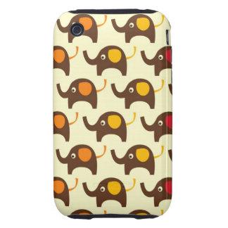 Good luck elephants kawaii cute nature pattern tan tough iPhone 3 case