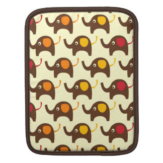 Good luck elephants pattern tan iPad sleeve