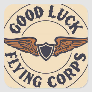 Good Luck Flying Club Square Stickers