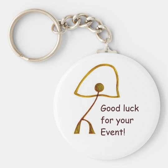 Good Luck for Special Event Basic Round Button Key Ring