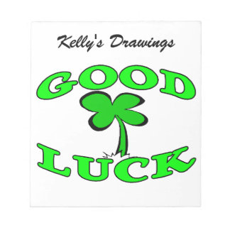 Good Luck Four Leaf Clover Notepads