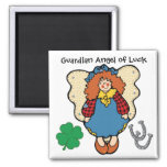 Good Luck Guardian Angel by SRF Square Magnet