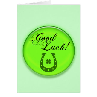 Good Luck Horse Shoe Card