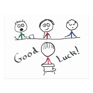 Good Luck Interview Postcard