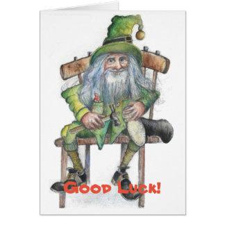 Good Luck leprechaun Card