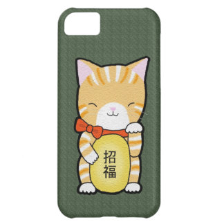Good Luck Lucky Cat Funny Tabby Kitty Phone Case iPhone 5C Case