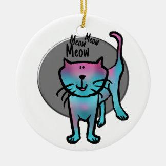 Good luck Meow meow meow meow cartoon cat ornament