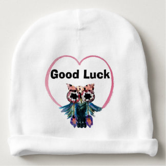 Good Luck Owl Baby Beanie