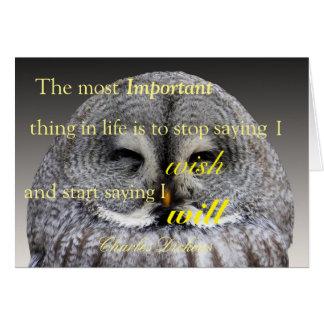 Good Luck Owl Card