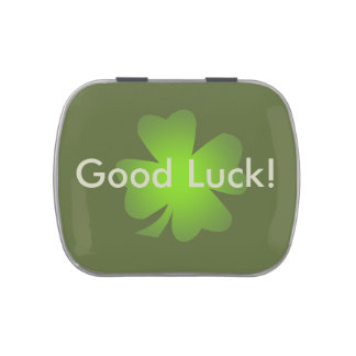 Good Luck! Party Favor Template Candy Tin