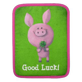 Good Luck Pig iPad Sleeve