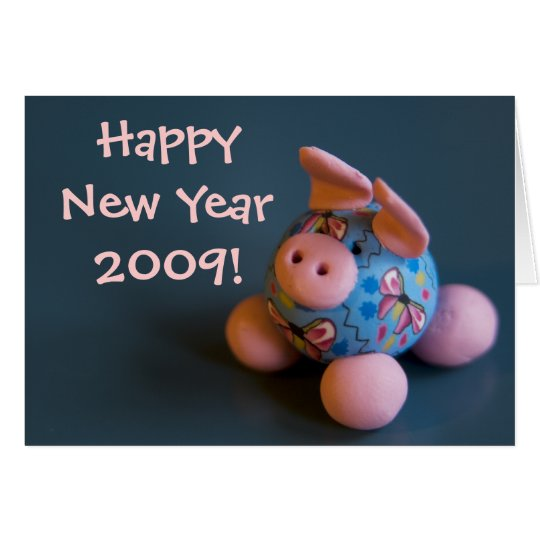 Good Luck Pig • New Year Greeting Card