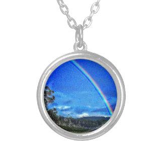 Good Luck Rainbow Round Pendant Necklace