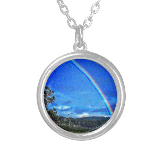 Good Luck Rainbow Silver Plated Necklace