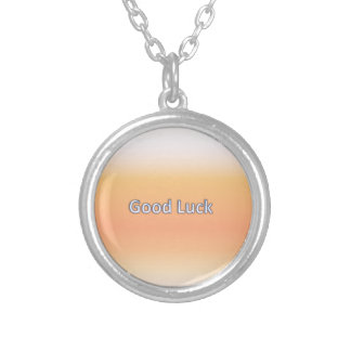 Good luck round pendant necklace