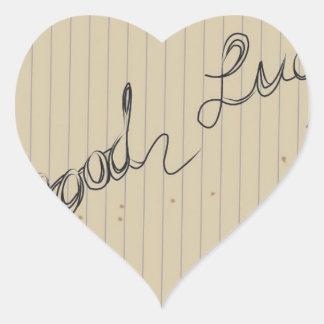 good luck heart sticker