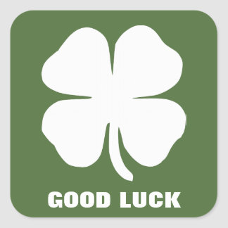 Good Luck Square Sticker