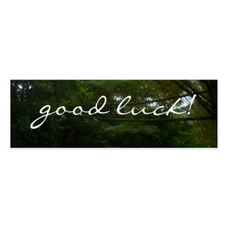Good Luck Tropical Rainforest Trees Pack Of Skinny Business Cards
