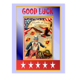 Good luck, uncle Sam Postcard