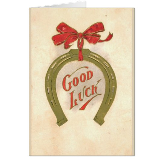 Good luck- vintage Greeting Card